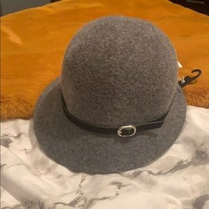 Grey Cloche Style Hat